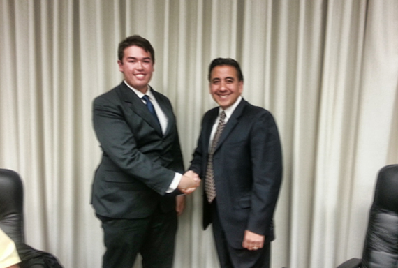 Youth Advocate sworn in by hollister mayor