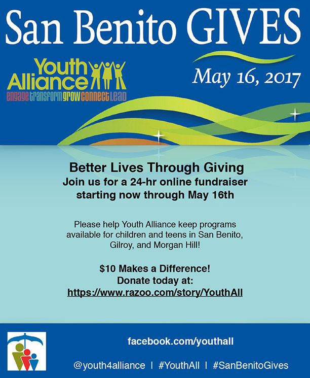 Just $10 can make a difference for the youth in San Benito!